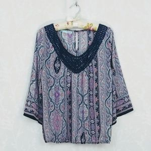 Maurices | Boho Scoop Neck Blouse | S